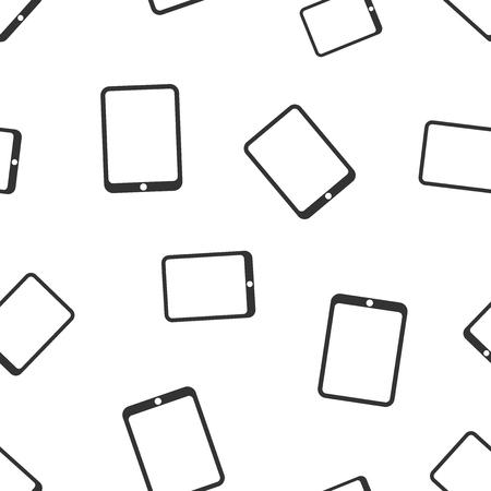 Tablet computer seamless pattern background. Business flat vector illustration. Realistic device sign symbol pattern. Illusztráció