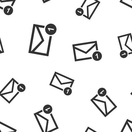 Van het het bericht naadloos patroon van de postenvelop pictogram als achtergrond. Zakelijke platte vectorillustratie. E-mail teken symbool patroon. Stockfoto - 95149973