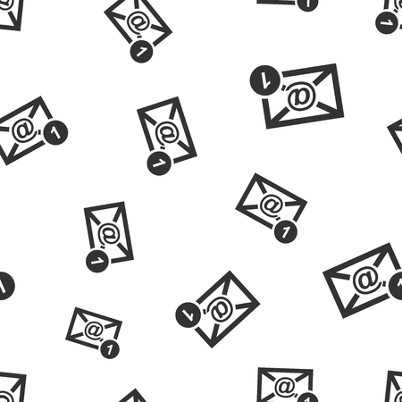 Email envelope message seamless pattern background icon. Business flat vector illustration. Mail sign symbol pattern.
