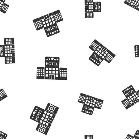 Hotel seamless pattern background. Business flat vector illustration. Hotel sign symbol pattern. 向量圖像