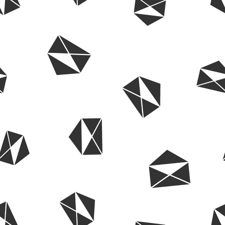 Mail envelope icon seamless pattern background. Business flat vector illustration. Email sign symbol pattern.