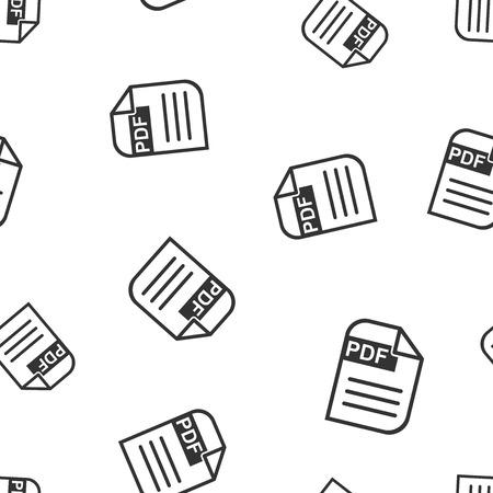 Descargar PDF sin patrón de fondo. Ilustración de vector plano de negocios Formato PDF símbolo de signo de tablero. Foto de archivo - 95756015