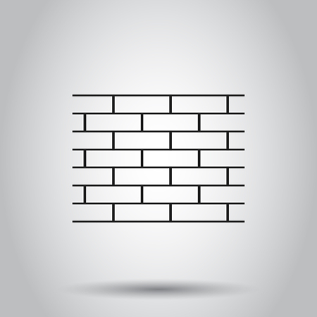 Wall brick stone icon. Vector illustration on isolated background. Business concept wall pictogram.