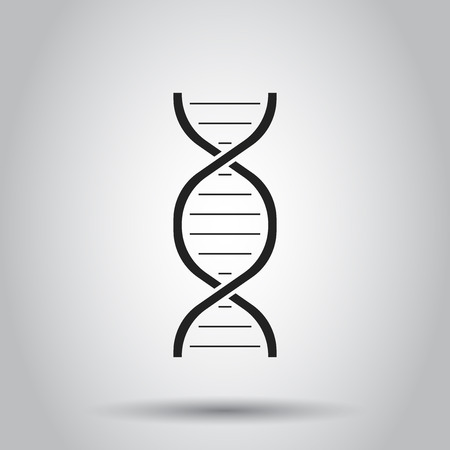 Dna icon. Vector illustration on isolated background. Business concept medecine molecule pictogram.