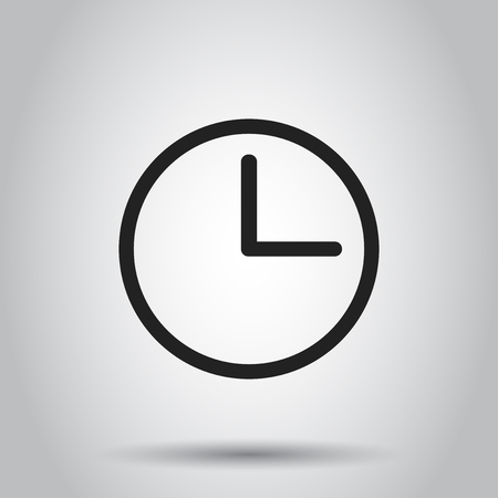 Clock timer icon. Vector illustration on isolated background. Business concept clock  pictogram. Ilustrace