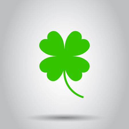 Four leaf clover icon. Vector illustration on isolated background. Business concept clover pictogram.