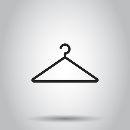 Hanger icon. Vector illustration on isolated background. Business concept wardrobe pictogram. Ilustracja