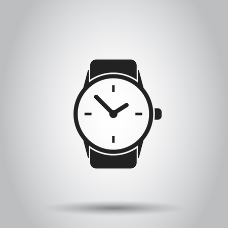 Clock watch icon. Vector illustration on isolated background. Business concept clock  pictogram.