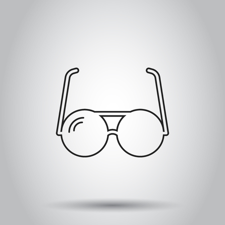 Sunglass icon. Vector illustration on isolated background. Business concept eyewear pictogram.