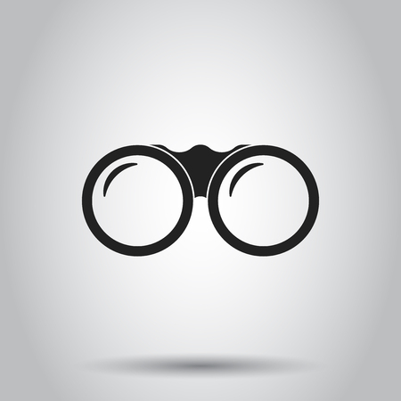 Binocular icon. Vector illustration on isolated background. Business concept binoculars explore pictogram.