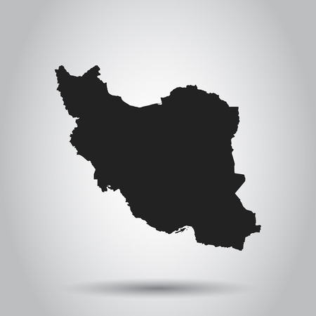 Iran vector map. Black icon on white background.