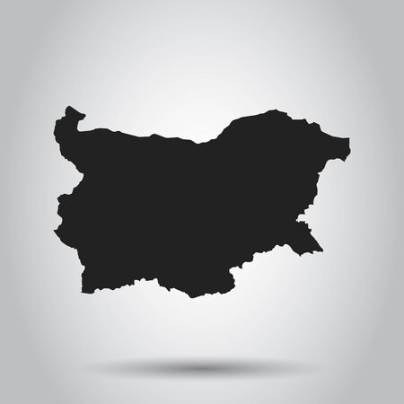 Bulgaria vector map. Black icon on white background.