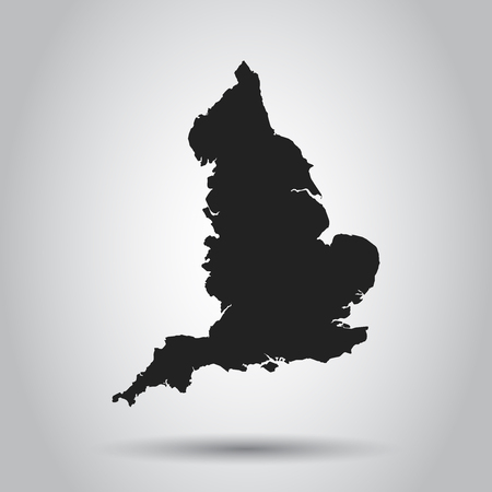 England vector map. Black icon on white background.