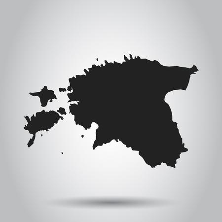 Estonia vector map. Black icon on white background. 向量圖像