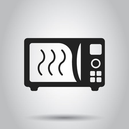 Microwave flat vector icon.