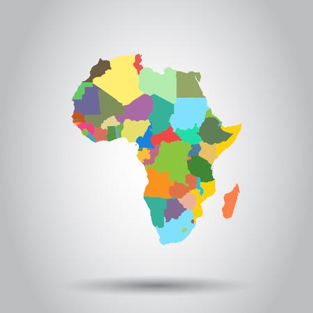 Africa map icon. Business cartography concept Africa pictogram. Illusztráció