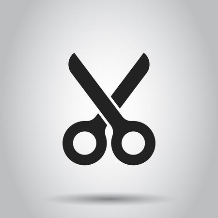 Scissors flat icon vector illustration.