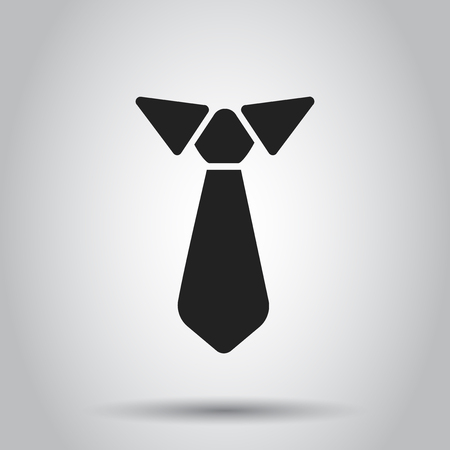 Tie flat icon. Necktie vector illustration.