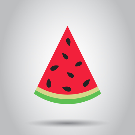 Watermelon sign vector icon. Ripe fruit illustration. Business concept simple flat pictogram.
