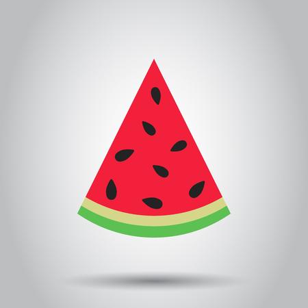 Watermeloen teken vector pictogram. Rijpe fruitillustratie. Bedrijfsconcept eenvoudig plat pictogram. Stockfoto - 96826594