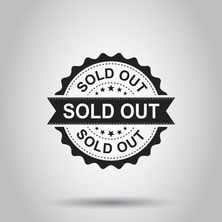 Grunge rubber stempel uitverkocht. Vector illustratie op een witte achtergrond. Bedrijfsconcept verkocht stempel pictogram.
