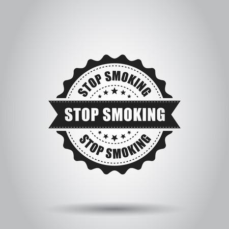 Stop smoking grunge rubber stamp. Vector illustration on white background. Illustration