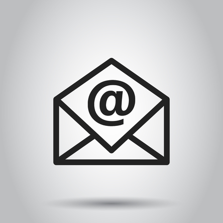 Mail envelope vector icon.