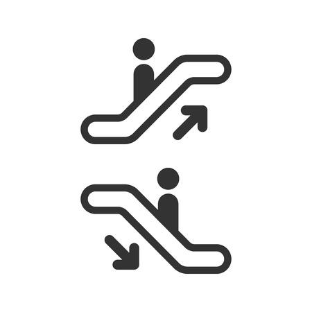에스컬레이터 엘리베이터 아이콘입니다. 벡터 일러스트입니다. 비즈니스 개념 에스컬레이터 그림입니다.