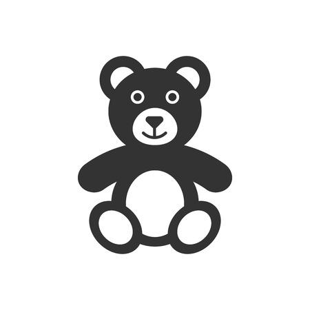Teddy bear plush toy icon. Vector illustration. Business concept bear pictogram.