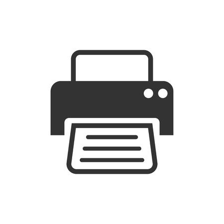 Printer icon. Vector illustration. Business concept document printing pictogram. Standard-Bild - 104630156