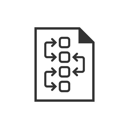 Tactical plan document icon. Vector illustration. Illustration