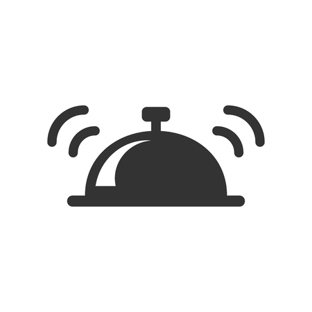Bell vector icon in flat style. Alarm bell illustration on white isolated background. Illustration