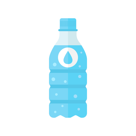 Water bottle icon in flat style. Bottle illustration on white isolated background.