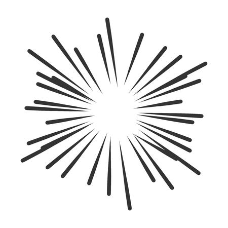 Vintage sunburst vector icon. Sun sketch burst doodle illustration. Hand drawn sunburst concept.