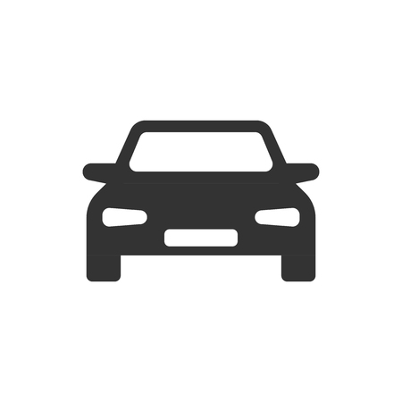 Car vector icon in flat style. Automobile vehicle illustration on white isolated background. Car sedan concept. Ilustracja