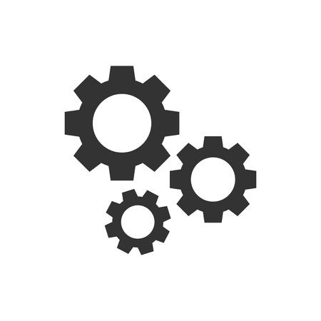Engranaje icono del vector en estilo plano . Foto de archivo - 100065998