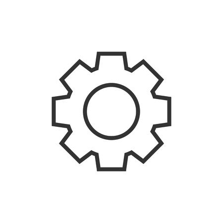 Engranaje icono del vector en estilo plano . Foto de archivo - 100066000
