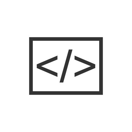 Open source business vector icon in flat style. Illustration