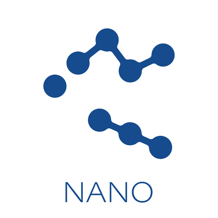 Molecule structure vector icon in flat style. Nano crypto money illustration on white isolated background. Molecular structure concept.