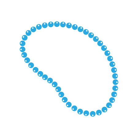 Necklace beads vector icon in flat style. Mardi gras beads illustration on white isolated background. Jewelry business concept. 向量圖像