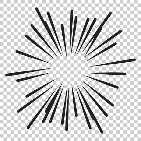 Vintage sunburst vector icon. Sun sketch burst doodle illustration. Hand drawn sunburst concept on isolated transparent background. Фото со стока - 100867549