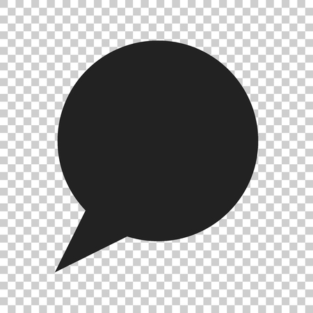 Blank empty speech bubble vector icon in flat style. Dialogue box on isolated transparent background. Speech message business concept.