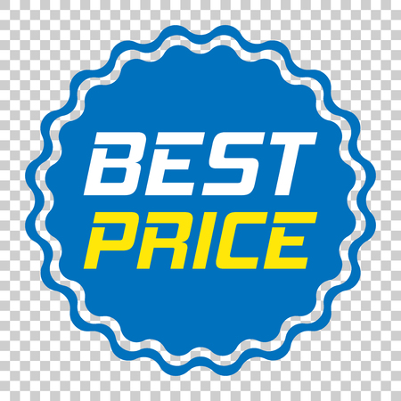 Discount sticker vector icon in flat style. Sale tag sign illustration on isolated transparent background. Promotion best price discount concept.