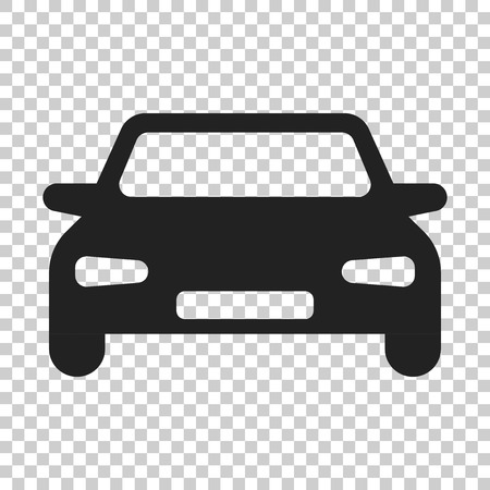 Car vector icon in flat style. Automobile vehicle illustration on isolated transparent background. Car sedan concept. Ilustracja