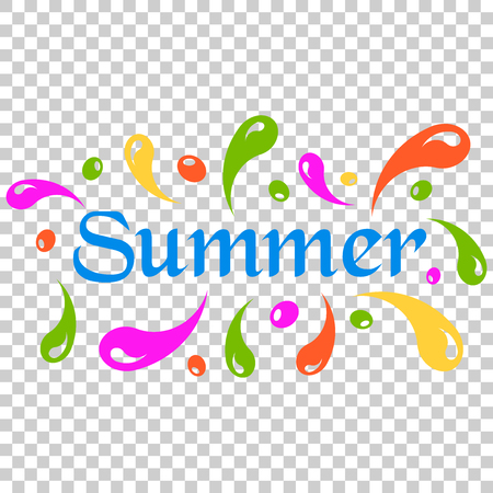 Summer splash spray vector icon in flat style. Summertime illustration on isolated transparent background. Summer wave concept. Иллюстрация