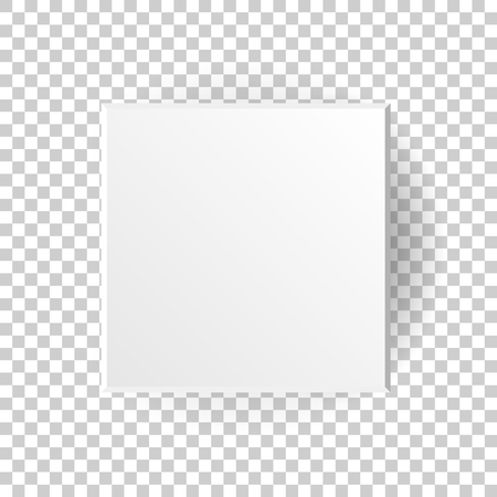 White blank package cardboard box vector icon in flat style. 3d box package illustration on on isolated transparent background. Square paper cube concept. Illusztráció