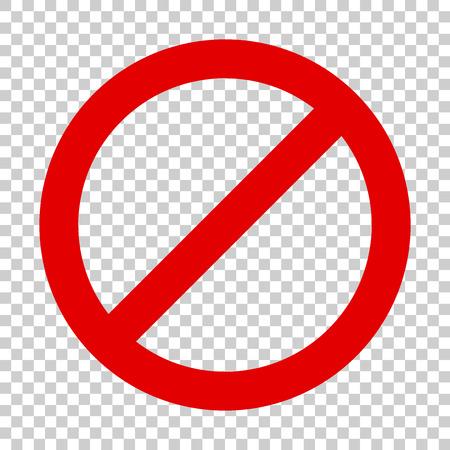 Stop sign vector icon in flat style. Danger symbol illustration on isolated transparent background. Stop alert business concept. Ilustração Vetorial