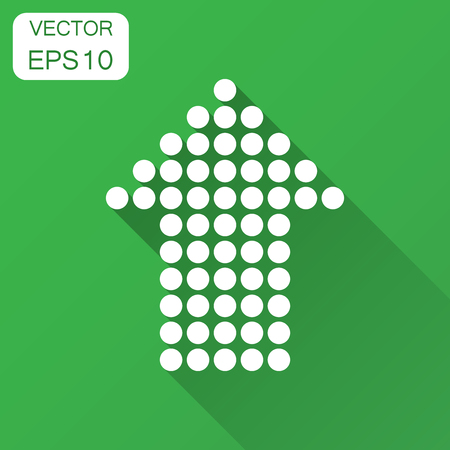 Arrow icon. Vector illustration with long shadow. Business concept arrow dotted and flat pictogram. 일러스트