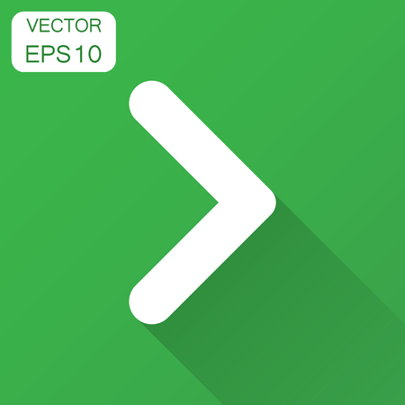 Arrow icon. Vector illustration with long shadow. Business concept arrow flat pictogram. 일러스트