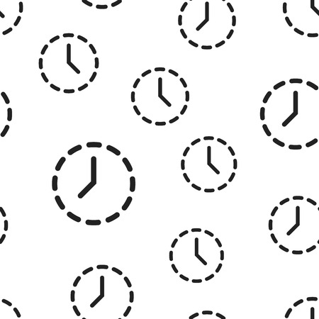 Clock time icon seamless pattern background. Business concept illustration. Timer symbol pattern.
